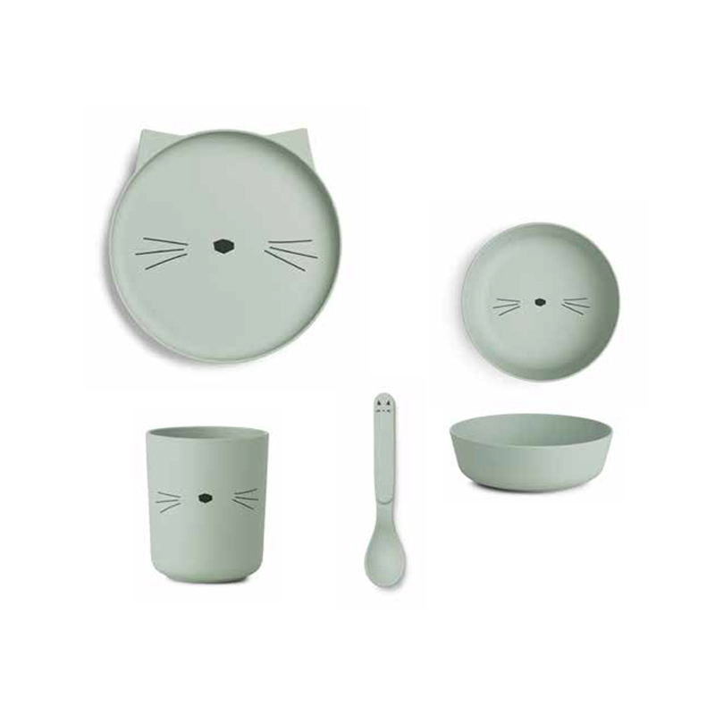 Immagine di Liewood® Set pappa bamboo cat Dusty Mint