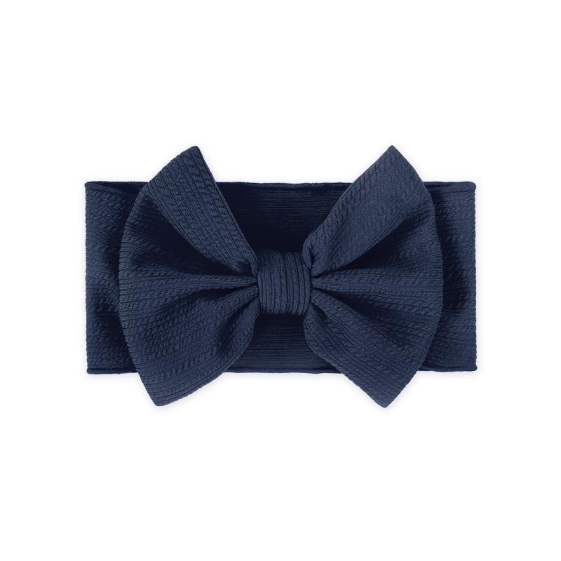 Immagine di Fascia per capelli con fiocco Navy Blu
