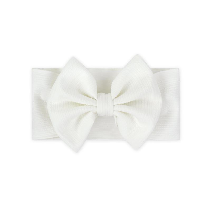 Immagine di Fascia per capelli con fiocco Bianco
