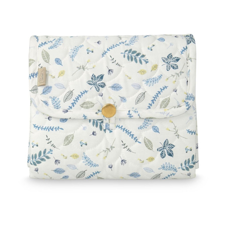 Picture of CamCam® Quilted Changing Mat Pressed Leaves Blue
