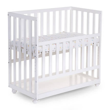 Immagine di Childhome® Lettino su rotelle Beech white 50x90