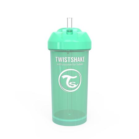 Immagine di Twistshake® Borraccia con cannuccia 360ml (12+ m) - Verde Pastello