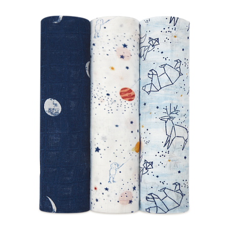 Picture of Aden+Anais® Silky Soft Swaddles 3-pack Stargaze (120x120)
