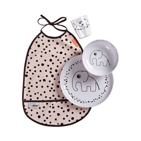 Slika Done by Deer® Set za hranjenje Happy Dots Powder