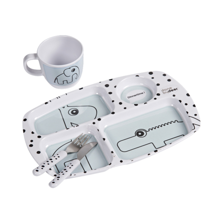 Immagine di Done by Deer® Set Pappa per bambini Happy Dots Blue