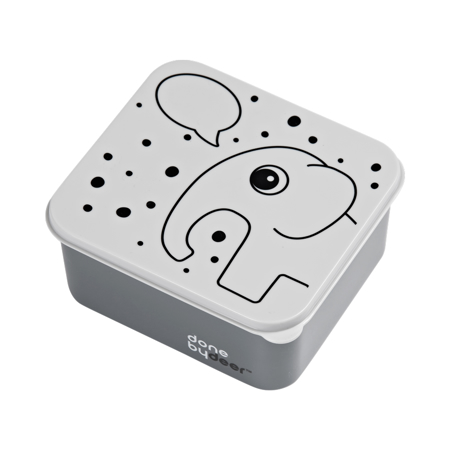 Immagine di Done by Deer® Lunch box Elphee Grey con palloncino