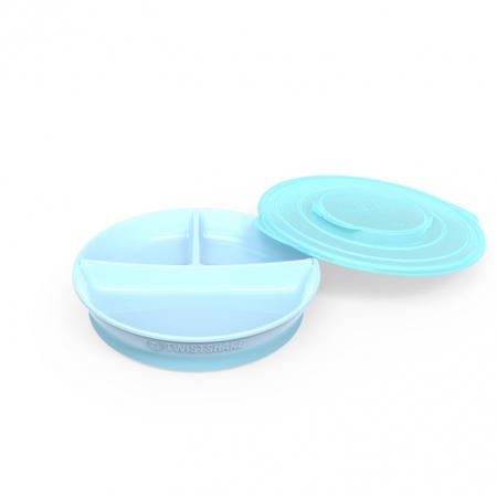 Immagine di Twistshake® Piatto a scomparti 210ml+2x90ml (6+m) - Blu Pastello