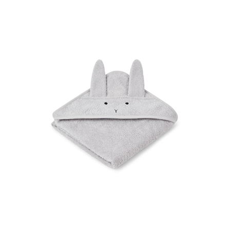 Picture of Liewood® Hooded Baby Towel - Rabbit Grey