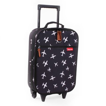 Picture of Kidzroom® Trolley Suitcase Black&White Planes