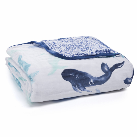 Picture of Aden+Anais Classic Dream Blanket - Seafaring Whales
