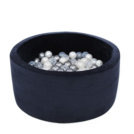 Picture of Misioo® Ball Pit With 200 Balls Navy Blue Velvet Collection