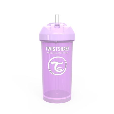 Immagine di Twistshake® Borraccia con cannuccia 360ml (12+ m) - Viola Pastello