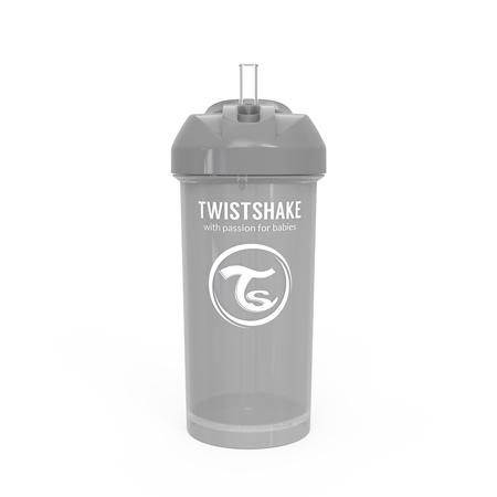 Immagine di Twistshake® Borraccia con cannuccia 360ml (12+ m) - Grigio Pastello