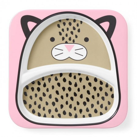 Picture of Skip Hop® Little Kid Divided Plate Leopard