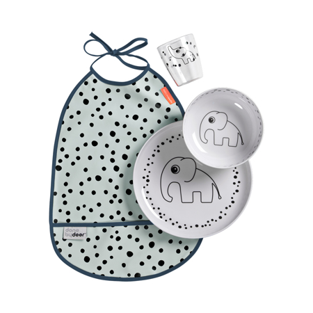 Picture of Done by Deer® Dinner Set Happy Dots Blue