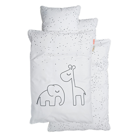 Immagine di Done by Deer® Biancheria da letto Dreamy Dots Junior White 100x140