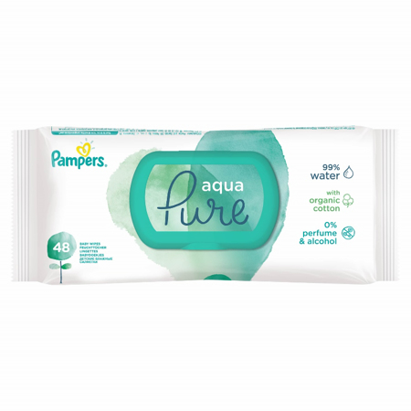 Picture of Pampers® Baby Wipes Aqua Pure 48 Pcs.