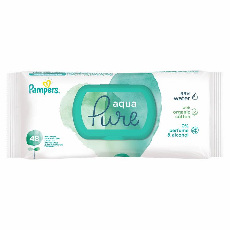 Pampers® Otroški vlažilni robčki Pampers Aqua Pure 48 kosov