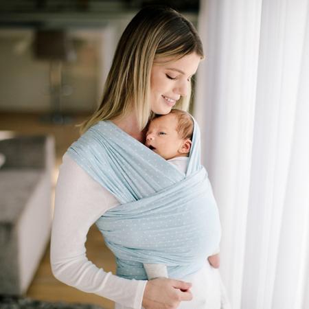 Immagine di Ergobaby® Fascia Porta Bebè  Wrap Baby Blue