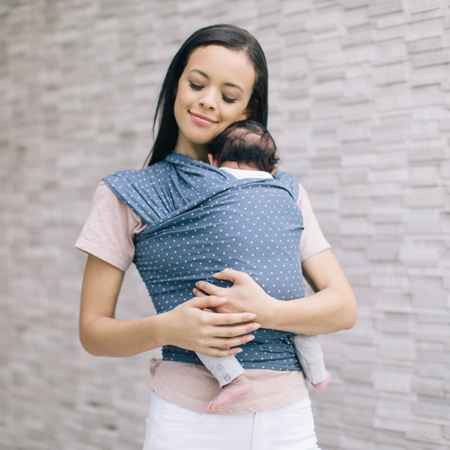 Immagine di Ergobaby® Fascia Porta Bebè  Wrap Coral Dot