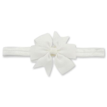 Immagine di Fascia elastica per capelli Fiocco White