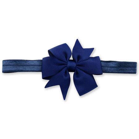 Immagine di Fascia elastica per capelli Fiocco Navy