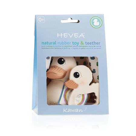 Immagine di Hevea® Kawan papera set regalo - anello dentizione e giocattolo da bagno