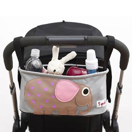 Immagine di 3Sprouts® Cestino porta oggetti per passeggino Elefante