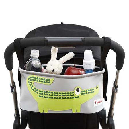 Immagine di 3Sprouts® Cestino porta oggetti per passeggino Coccodrillo