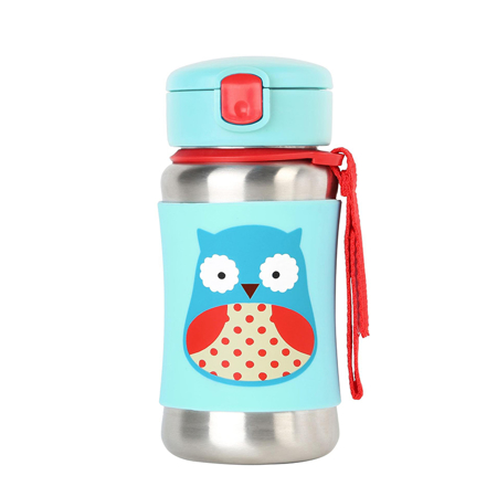 Picture of Skip Hop® Stainless Steel Kids Straw Bottle Owl
