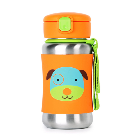 Picture of Skip Hop® Stainless Steel Kids Straw Bottle Puppy