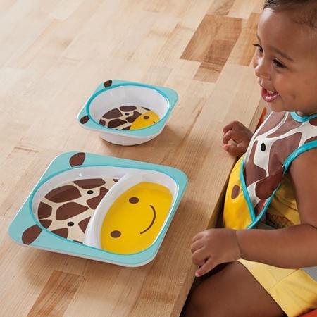 Immagine di Skip Hop® Piatto a suzione separata Giraffa