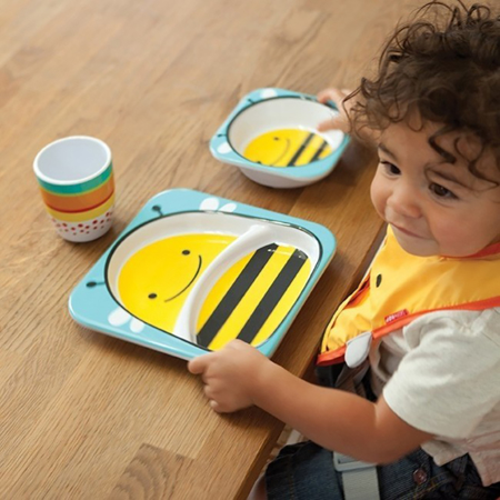 Picture of Skip Hop® Melamine Plate&Bowl Set Bee