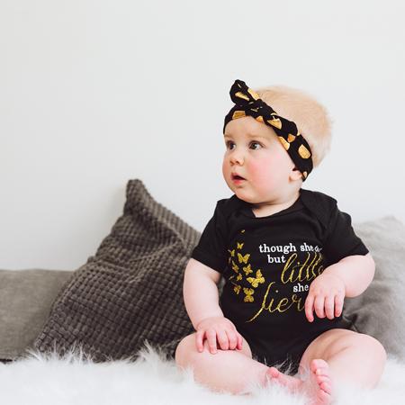 Immagine di Fascia per capelli a pois Gold - Rosa