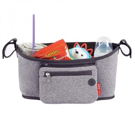 Immagine di Skip Hop® Cestino porta oggetti per passeggino Heather Grey