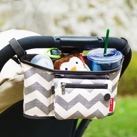 Immagine di Skip Hop® Cestino porta oggetti per passeggino Chevron
