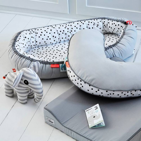 Immagine di Done by Deer® Cuscino allattamento Happy dots - Grigio