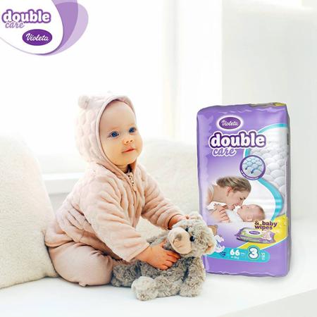 Immagine di Violeta® Pannolini AirCare 3 midi (4-9kg) Jumbo 66+Salviettine umidificate Baby in omaggio
