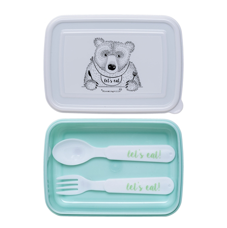 Immagine di Bloomingville®Lunch box con posate