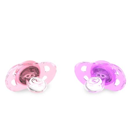 Picture of Twistshake 2x Pacifier Pastel Pink&Purple  (0+/6+)