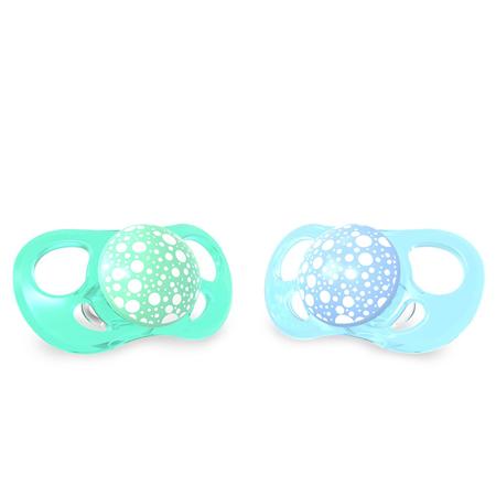 Immagine di Twistshake® Due ciucci Pastello Blue&Green