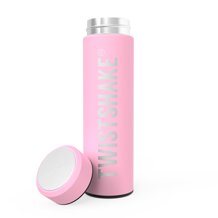Picture of Twistshake Hot Or Cold Insulated Bottle 420ml - Pastel Pink