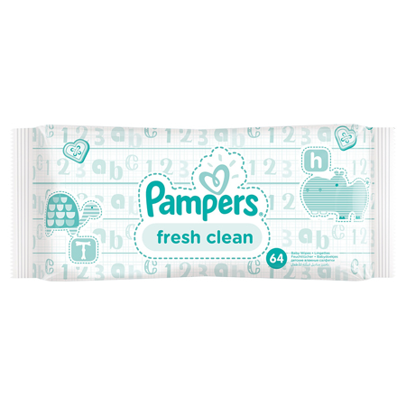 Pampers® Salviettine umidificate Baby Fresh Clean promo pack 6x64 pz.