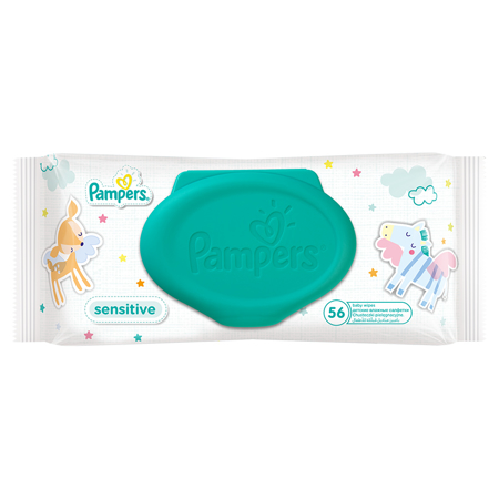 Picture of Pampers® Baby Wipes Sensitive Promo Pack 12x56 Pcs.