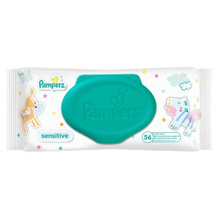 Slika Pampers® Otroški vlažilni robčki Sensitive Promo pack 6x56 kosov
