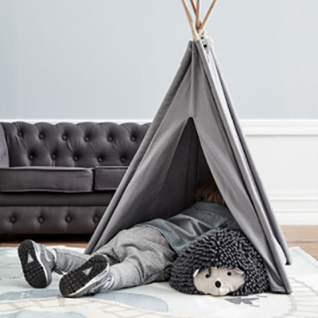 Kids Concept® Mini tenda Tipi grey