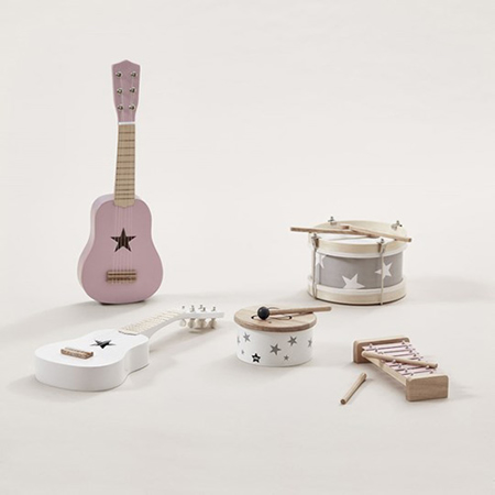 Slika Kids Concept® Lesena kitara Pink