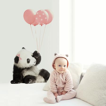 Dekornik® Adesivo parete Pink Panda