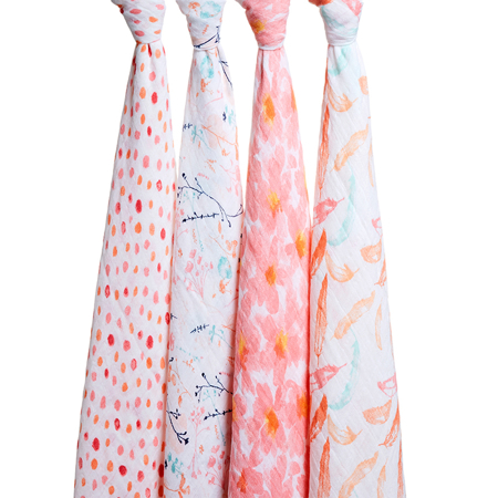 Picture of Aden+Anais® Classic Swaddle Set 4-Pack Petal Blooms (120x120)
