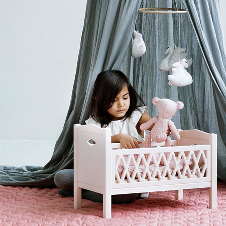 Picture of CamCam® Harlequin Doll's Bed Grey